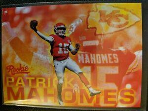 Details About Pat Patrick Mahomes Nfl Draft Round 1 Pick 10 Rookie Card Kansas City Chiefs