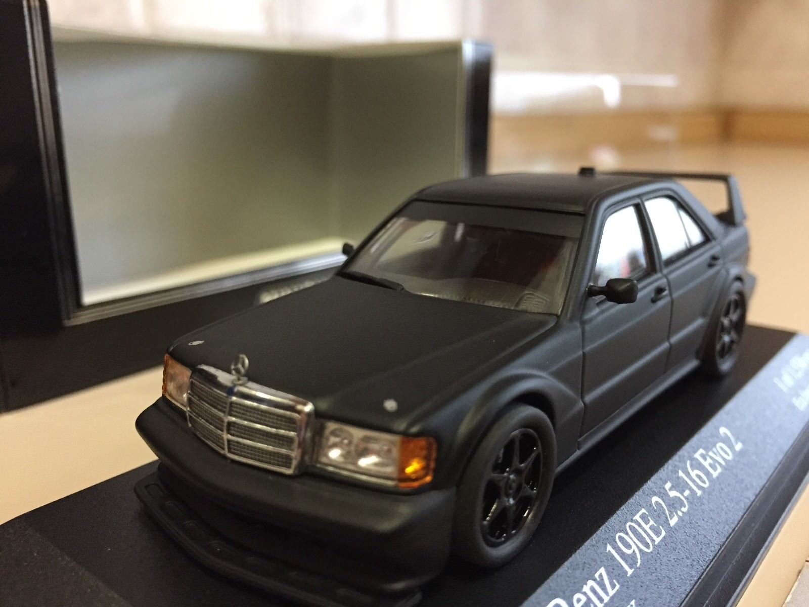 MINICHAMPS FOR KYOSHO 1 43 MERCEDES 190E 2.5-16 EVO 2 HOMOLOGATION IN nero NEW
