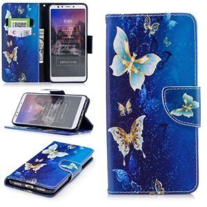Fuer-Huawei-P20-Lite-Kunstleder-Tasche-Book-Motiv-38-Schutz-Huelle-Case-Cover-Etui