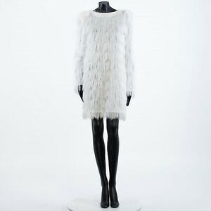 BALMAIN-1350-Fringe-Mini-Dress-In-White