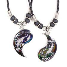 Best Friend Mood Dragon Yin Yang 2 Pendants Necklace Set BFF Friendship Ying
