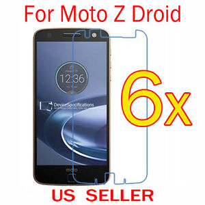 6x-Clear-LCD-Screen-Protector-Guard-Cover-Film-For-Motorola-Moto-Z-Droid