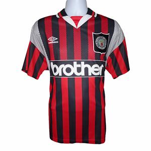 1994-1996 MANCHESTER CITY AWAY FOOTBALL SHIRT UMBRO LARGE (ottime condizioni)