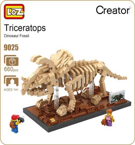 Loz Building Blocks Triceratops//Dinosaur Skeleton Gift//Birthday