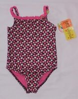 Penelope Mack Pink & Brown Floral Swimsuit 3t 4t