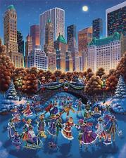 DOWDLE FOLK ART COLLECTORS JIGSAW PUZZLE CENTRAL PARK 1000 PCS NEW YORK