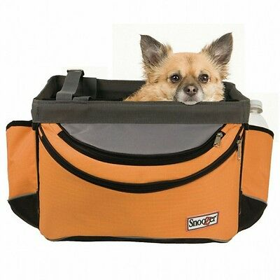 Snoozer Pet Dog Sporty Bicycle Bike Basket Carrier with Rain Cover Orange