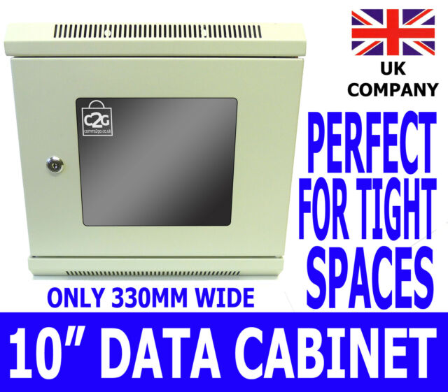 "6U 10"" White SOHO Comms Cabinet Network Data Rack Home Office Lan Server Switch"