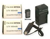 2 Batteries + Charger For Samsung St205f Ec-st200fbplus Ec-st200fbpbus Wb210