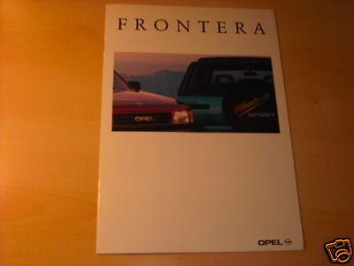 10696) Opel Frontera Österreich Prospekt 1992