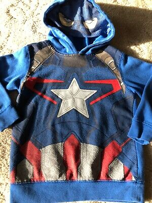 Boys Small 4//5 THE AVENGERS 2 movie Captain America Hulk Sweatshirt Hoodie