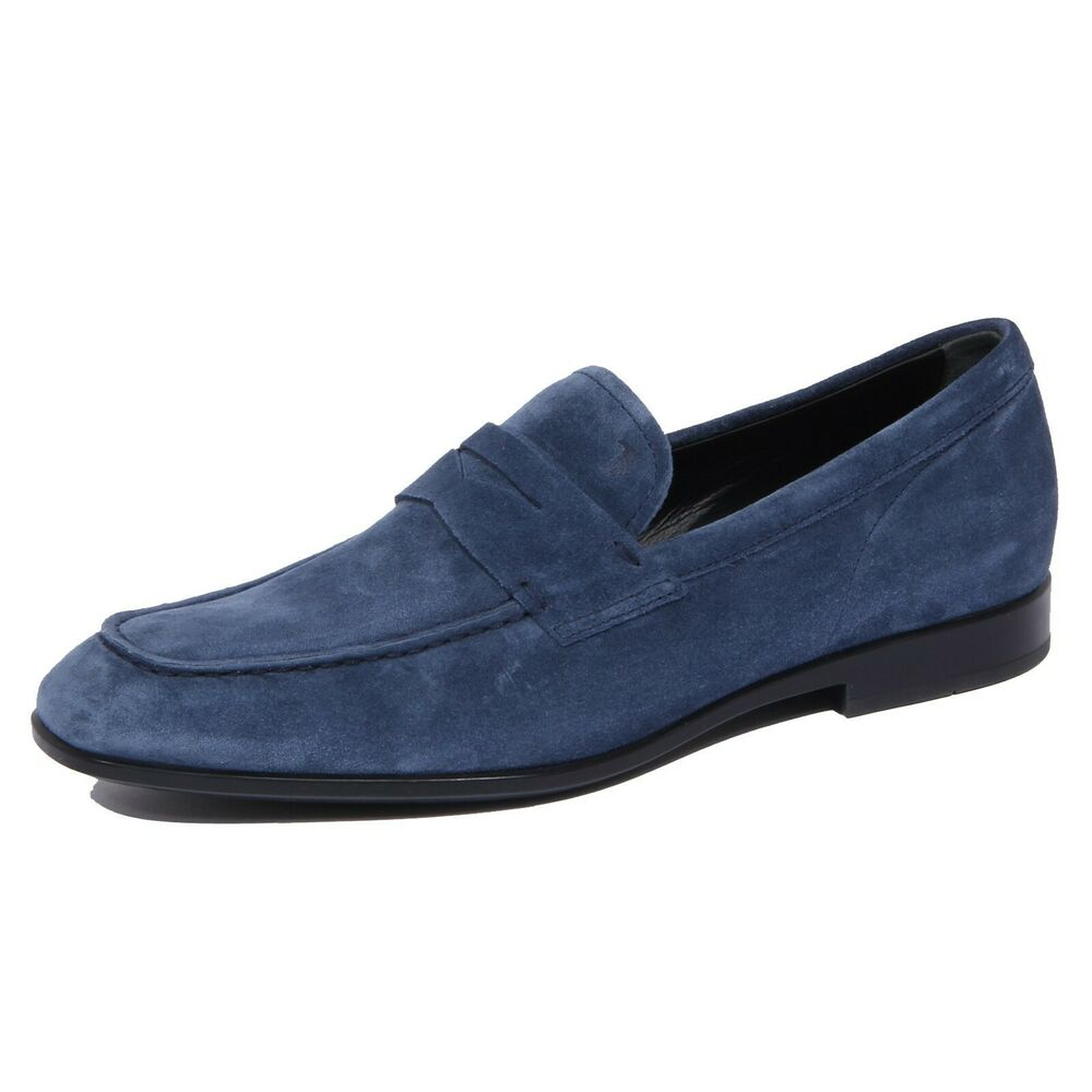 1750j Mocassino Uomo Light Blue Tod's Scarpe Suede Shoe Loafer Man