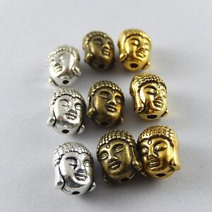 24pcs-Bronze-Silver-Gold-Alloy-Buddha-Head-Beads-Pendants-Charms-Jewelry-52030