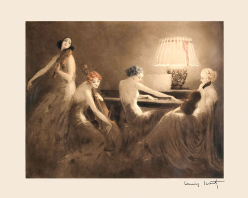 """Music Piano Violin by French Artist Louis Icart 16/""""X20/"""" Vintage Poster FREE S//H"""