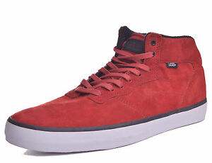 online store matching in colour classic style of 2019 Details about Vans OTW Mens Piercy Suede Red Mid Top Skateboard Shoes Size  11