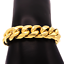 thumbnail 7 - Cuban-Link-Bracelet-18KT-Gold-Plated-Stainless-Steel-Open-Box-Clasp-Mens-Jewelry