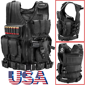Military-Vest-Tactical-Plate-Carrier-Holster-Police-Molle-Assault-Combat-Gear