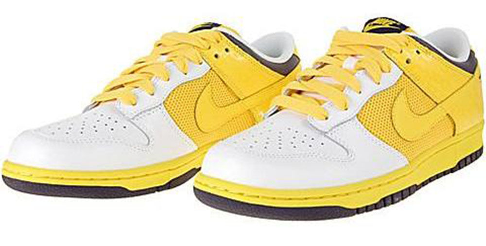 NIKE DUNK LOW WOMEN's BASKETBALL SHOE LEATHER -  MESH YELLOW - Weiß  - SIZE 10.5 5d0aed