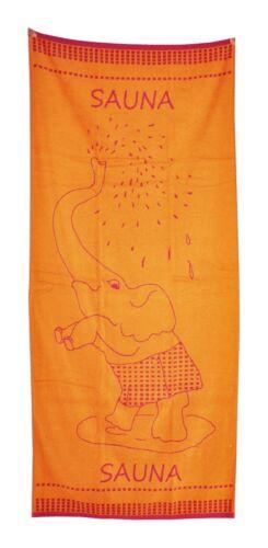 XXL Saunatuch 85x200cm Handtuch Nilpferd Eule Katze Elefant Frottier Strandtuch