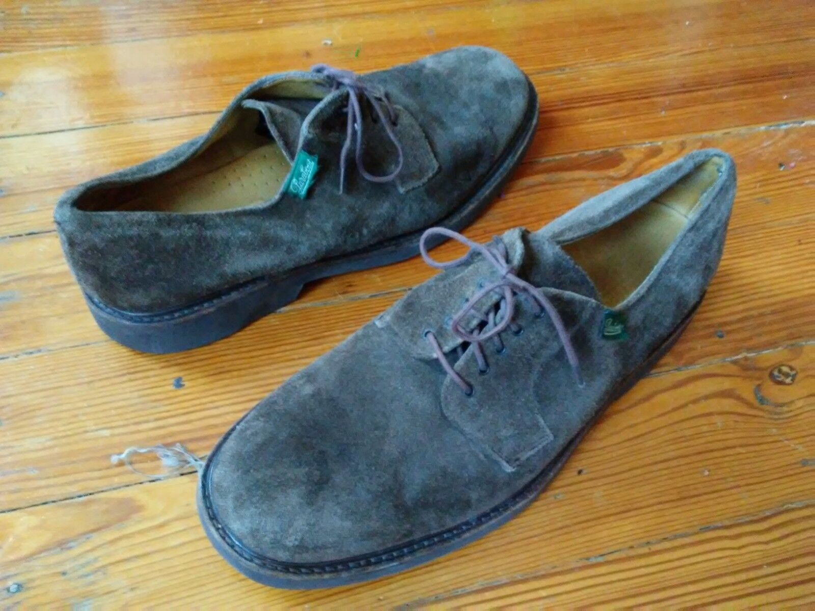 Paraboot Espresso Suede Frenaye? Oxford Shoes! Sz 11F. Must Have Rare!!
