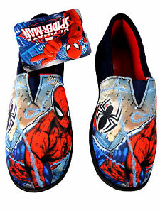 4613bf6c8f91 Image is loading Boys-slippers-Spiderman-Character-House-Marvel-Superhero- Shoes-
