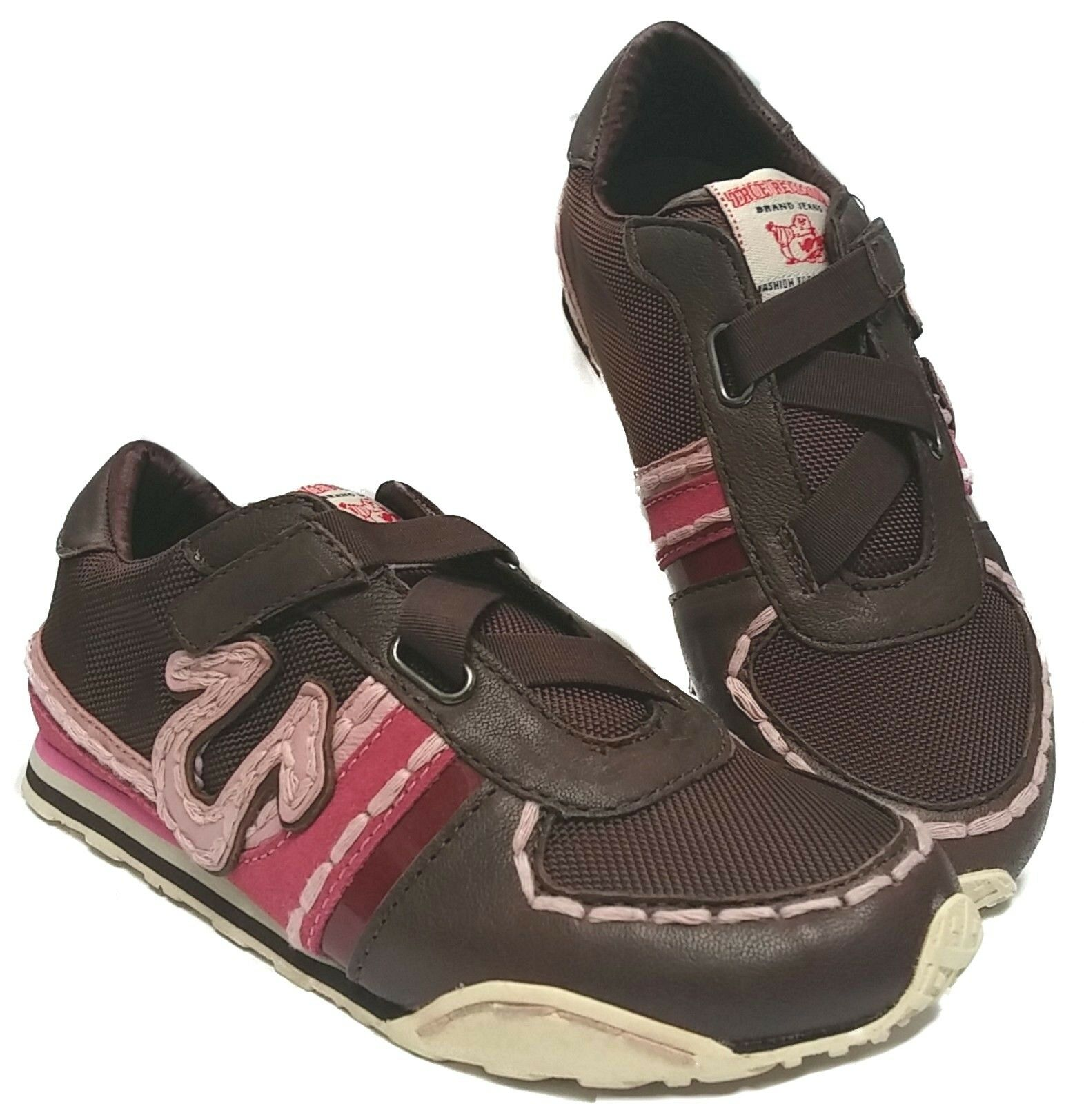 TRUE RELIGION TR582100-82B SPENCER Strap On Wmn's (M) Braun Mesh Lifestyle Schuhes