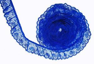 Royal-Azul-5-1cm-Ancho-Volantes-Candlewick-Ribete-de-Encaje-por-4-6m