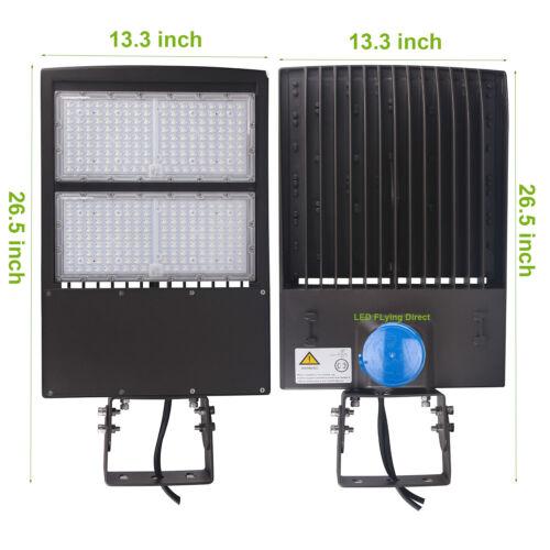 300W LED Shoebox Parking Lot Lights with Dusk to Dawn Photocell Sensor 5000K UL