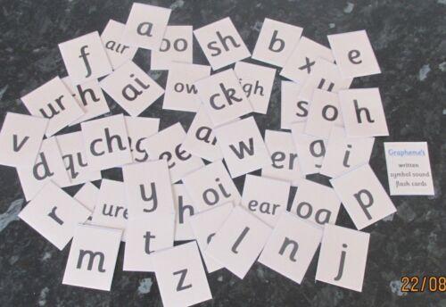 Grafema'S Piccolo Flash Cards, disponibile in scatola o in piccoli sacchetto di plastica da £ 3.75