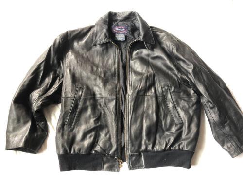 Facconable Mens Black Lambskin Leather Jacket Geni