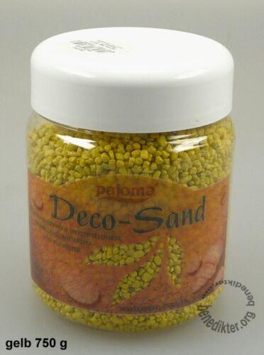 DECO sable 750 G étanche couleur et UV Stable granulés farbsand kerzensand