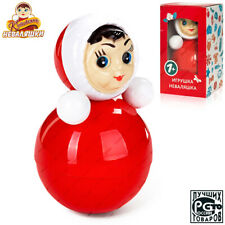 h=8.4 in #21 Russian Roly-poly Baby Music toy Tilting doll tumbler toy