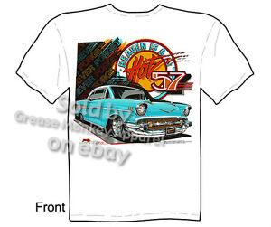 57-Chevy-T-shirt-1957-Chevrolet-T-Shirts-Bel-Air-Classic-Car-Tee-M-L-XL-2XL-3XL