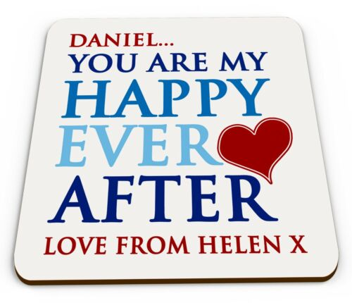 Personalised You Are My Happy Ever After Cute Novelty Poison Coaster