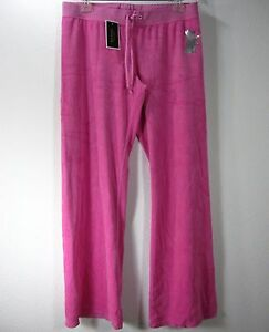 JUICY-COUTURE-NWT-VELOUR-PANTS-SIZE-XL-EXTRA-LARGE-SOLID-PINK