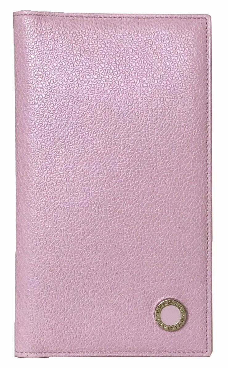 Authentic BVLGARI Notebook Cover De Cuero Rosa Damas producto de belleza