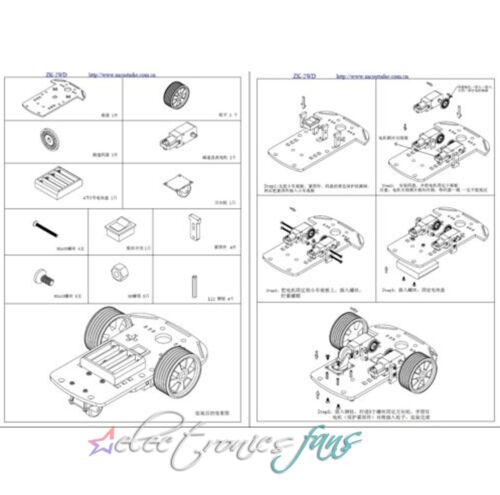 2WD Smart Robot Car Kit//Speed encoder Battery Box Arduino 2 motor 1:48
