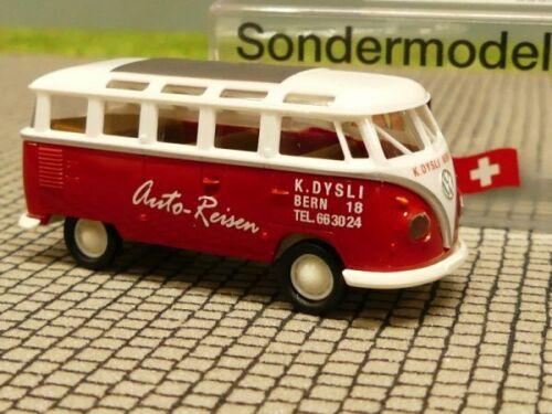 1//87 Brekina # 1829 VW t1 B Samba dysli viaggi ch Modello Speciale Svizzera