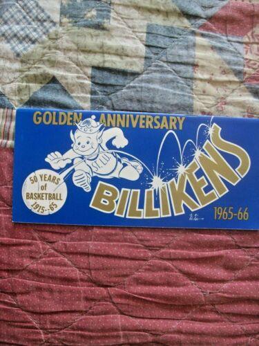 1965-66 ST LOUIS BILLIKENS BASKEBALL MEDIA GUIDE Yearbook 1966 Program College
