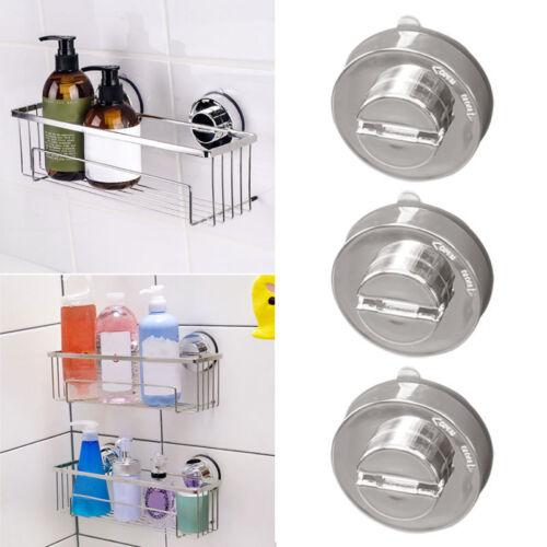 Stainless Bathroom Sucker Shelf Shower Caddy Storage Holder Rack Organizer Pro