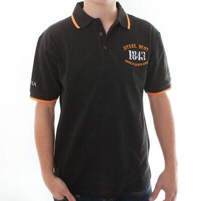"""Il Migliore Dqha Uomo Polo """"steel Dust 1843"""" - Black/orange (tg S-xxl)-mostra Il Titolo Originale"""