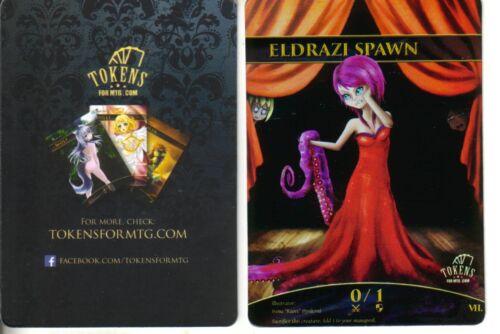 Eldrazi Spawn Token FOILNMaltered Art Promo Tokens for MTG
