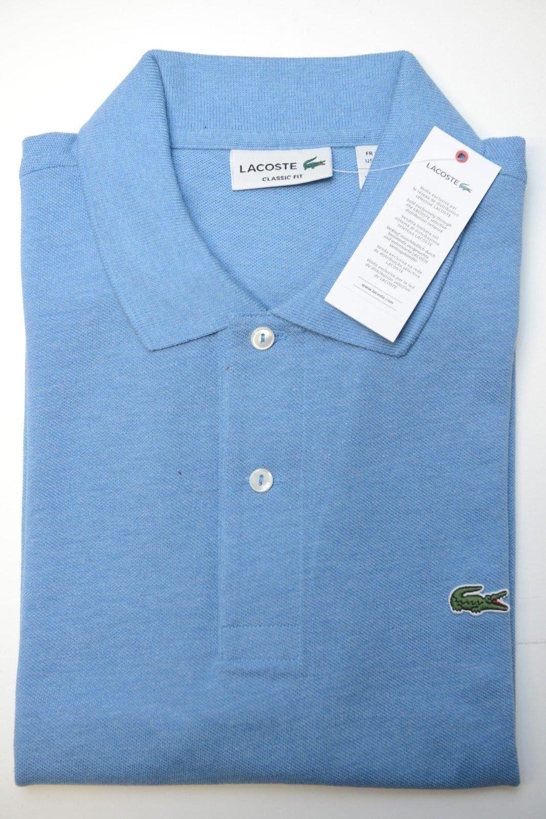ca422c354 Lacoste L1212 Men s Classic Fit Horizon Blue Chine Cotton Polo Shirt ...