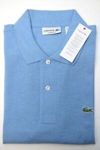 bcc8f6b41 Lacoste L1264 Men's PIQUÉ Classic Fit Horizon Blue Cotton Polo Shirt ...