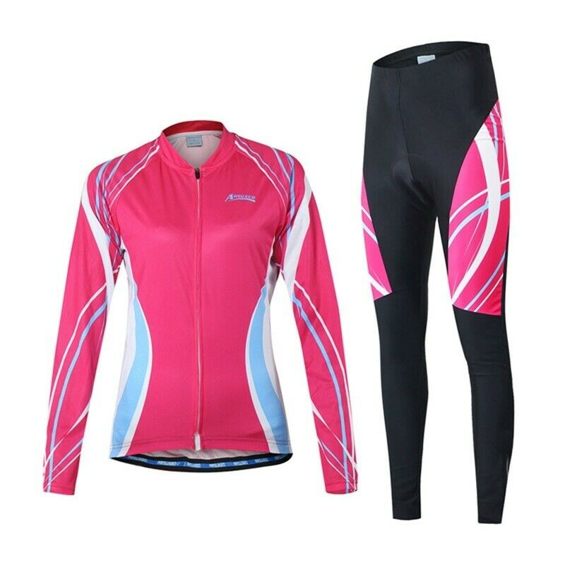Team Cycling Women Jersey Sets Road Bike Bicycle MTB Sport Suit Padded Pants