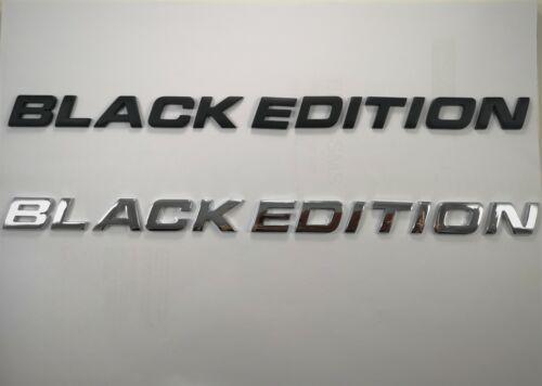 Black//Chrome BLACK EDITION Emblem Badge Letters For Trunk Hood Door Car