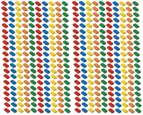 ☀️NEW Lego 2x4 Bricks 400 Count 5 Assorted Colors RED Orange Yellow Blue Green
