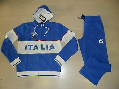 10062 TG XL JAKED FIN FEDERAZIONE ITALIANA NUOTO TUTA ITALIA FELPATA TRACKSUIT   eBay