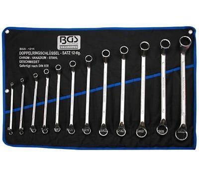 BGS technic 1214 Doppelringschlüssel Satz 12tlg 8-32mm Rolltasche