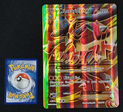 Mega M Lucario EX 55a//111 XY ALTERNATE Full Art NM Pokemon JUMBO OVERSIZED